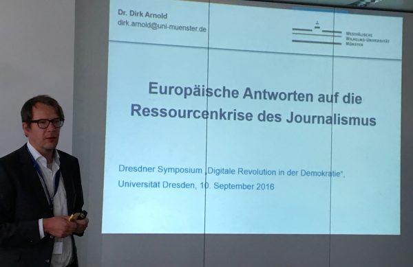 Dirk Arnold, Westfälische Wilhelms-Universität Münster