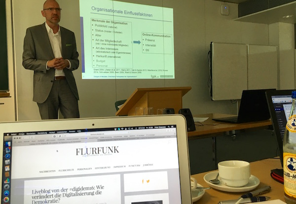 Patrick Donges über die Online-Aktivitäen politischer Organisationen