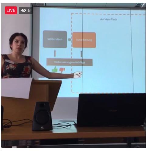 Marina Weisband bei der #digidem16 - Bild mit Stream verlinkt