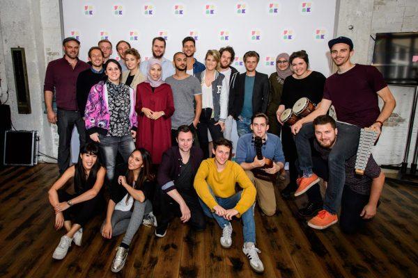 Teile des Funk-Teams bei der Pressekonferenz am 29.09.2016; Foto: Stefan Hoederath/funk