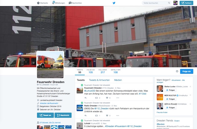 Feuerwehr-Twitter
