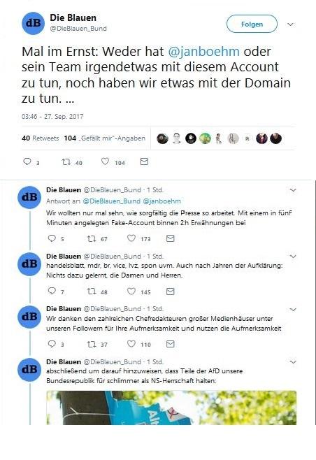Twitter #dieblauen Fake